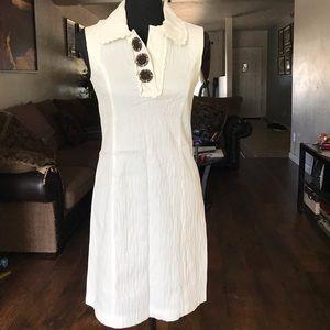 Kensie White Sleeveless Mid Dress